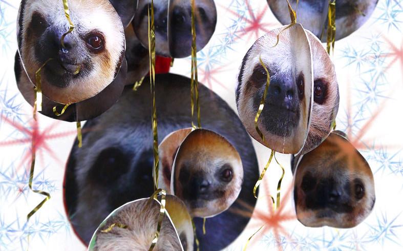 Make your own Sloth Christmas Balls