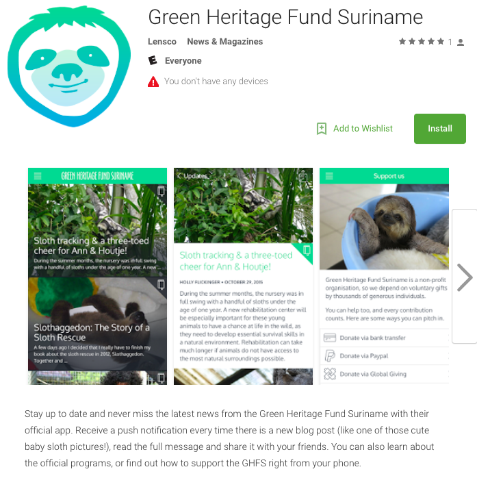 Download the Green Heritage Fund Suriname App 1