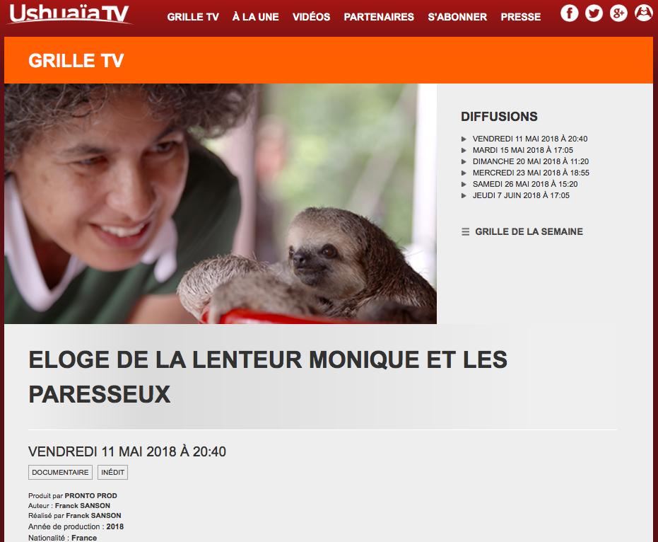 Eloge de la Lenteur Monique et les Paresseux - In Praise of Slowness Monique and the Sloths 1